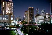 Cityscape of jakarta at night, Java island, Indonesia.