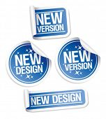 New Design and Version stickers set.