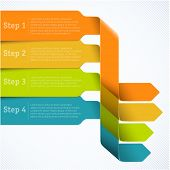 picture of paper cut out  - Rainbow labels template for infographics - JPG