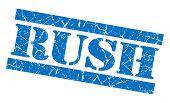 Rush Blue Grunge Stamp