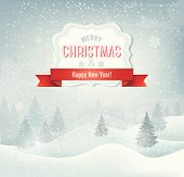picture of snowy hill  - Christmas winter landscape background - JPG