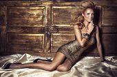 Beauty Portrait Of Blonde Woman Posing