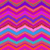 Hand drawn zigzag pattern in bright pink.