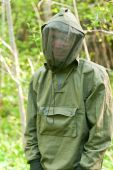 Man In Encephalitis Protective Clothing