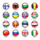 pic of macedonia  - Set of world flag glass icons - JPG