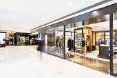 corridor in modern shop