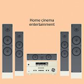 Vector home cinema speaker system