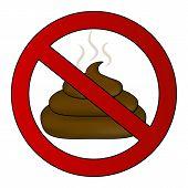 No Poop Sign