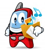 Mascote do telefone celular