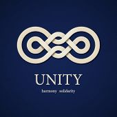 foto of integrity  - vector unity paper knot design template - JPG