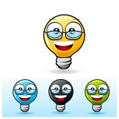 Light Bulb Character: Wearing Eyeglass