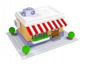 3d shop icon