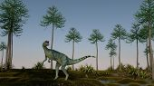 picture of dilophosaurus  - dilophosaurus on shore - JPG