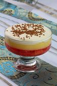 English strawberry trifle in sundae glass
