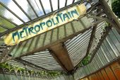 stock photo of marquise  - View of a typical metropolitan sign board in Paris - JPG