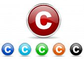 copyright icon set