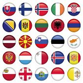 image of armenia  - European Buttons Round Flags set of 25 circle Europe icon - JPG
