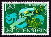 Postage Stamp Liechtenstein 1967 The Giant Of Guflina