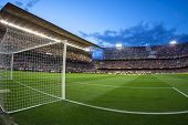 VALENCIA - MAY, 1: View of Mestalla Stadium during UEFA Europe League semifinals match between Valen
