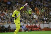 VALENCIA - MAY, 1: Sevilla�´s goalkeeper Beto during UEFA Europe League semifinals match between V