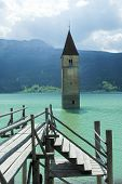 Resia, Tower In The Lake