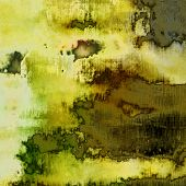 art abstract colorful acrylic background in yellow, white, green, grey and black colors