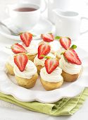 Cupcakes With Strawberry