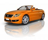 Orange Elegant Convertible Car