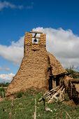 foto of pueblo  - Old belltower from San Geronimo Chapel in Taos Pueblo USA - JPG