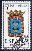 Arms Of Provincial Capitals Shows Melilla