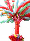 Colorful elongated balloon