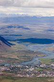 Aerial Of Small Town In Iceland poster