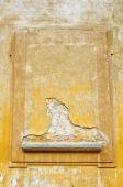Weathered Old Stucco Wall In Florence poster