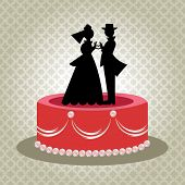 Bride and groom love heart hands cake topper