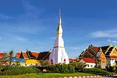 stock photo of chums  - Idyllic Wat Pra That Choeng Chum Worawihal temple Sakon Nakhon Province northeastern of Thailand - JPG