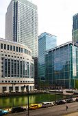 LONDON, UK - APRIL 24, 2014  Modern architecture of Canary Wharf the leading centre of global financ