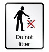 Do Not Litter Information Sign