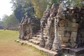 View Of Elephant Terrace In Angkor Thom