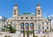 MONTE CARLO, MONACO - JULY 13, 2013: Facade of Salle Garnie - opened in 1879 gambling and entertainm
