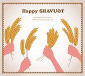 happy Shavuot, Jewish holiday card.