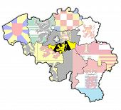 Walloon Brabant On Map Of Belgium