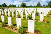 Omaha Beach, Normandy,Ferance.- August 9: American War Cemetery on August 9, 2013. American War Ceme