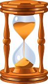 Isolated antique hourglass