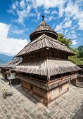 stock photo of himachal  - Tripura Sundari Temple in Naggar Himachal Pradesh India - JPG