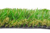 artificial astroturf grass samples isolated on white