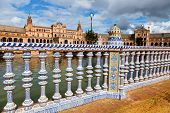 spain, andalusia. the spanish pavilion in seville on