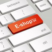 E-shop Concept With Computer Keyboard