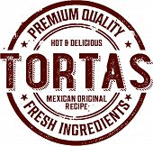 Mexican Torta Sandwich Stamp