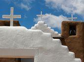 picture of pueblo  - San Geronimo Chapel in Taos Pueblo USA - JPG