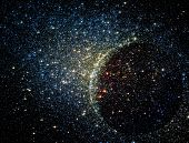 Stars Clusters On The Background Of Vast Cosmic Sphere.